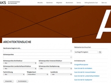 Screenshot Architektensuche